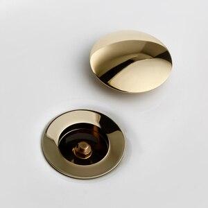Image 4 - Smesiteli Bagno di Scarico Lucido Oro In Acciaio Inox Tubo di Acqua Filettato Perforato Cucina Lavello Spina