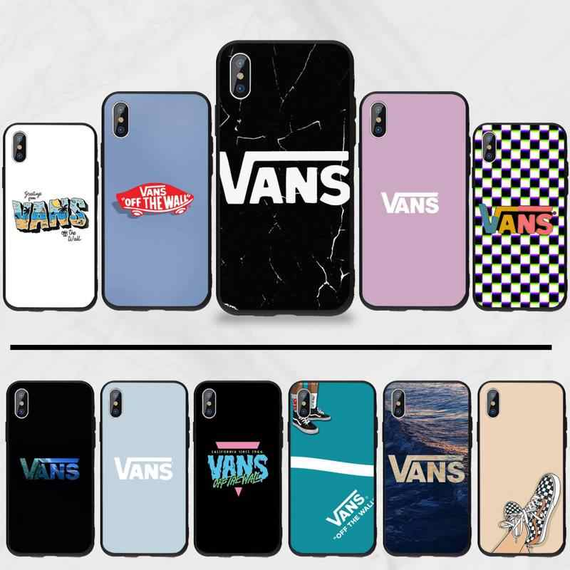 American Skateboard Brand VANS Phone Case For iphone 5 5S SE 5C 6 6S 7 8 plus X XS XR 11 PRO MAX
