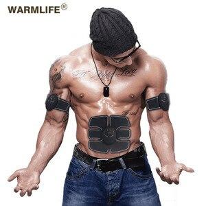 Image 1 - Ems 筋肉刺激スマートフィットネス腹部トレーニング電気減量のステッカーボディ痩身ベルトユニセックス