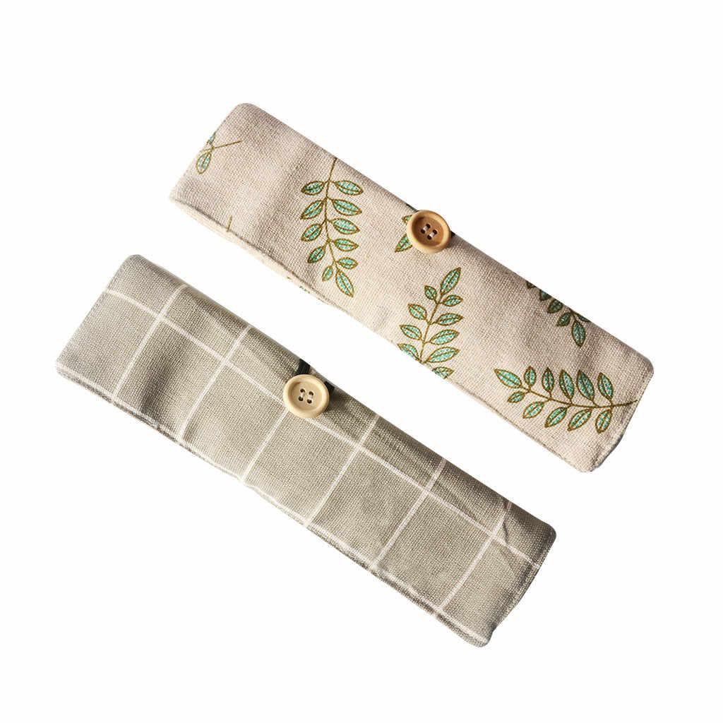 Przenośny bambus sztućce podróży przyjazne dla środowiska widelec zestaw łyżek zawierać wielokrotnego użytku łyżka bambusowa torba płótno gospodarstwa domowego stołowe łyżka