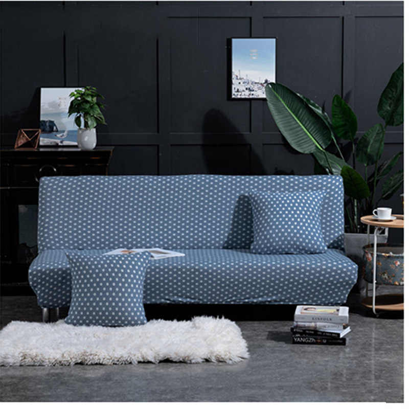 armless sofa cover for living room fold sofa bed cover elastic seat couch coverall inclusive sofa slipcover furniture protector