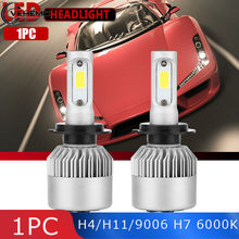 Vehemo H7 H1 LED Headlight LED Fog Light S2 H4/H11/9006 HeadLamp Waterproof Car Led Head light Universal 6000K Bulbs Lamp(China)