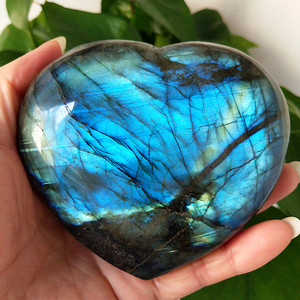 Image 1 - Gran tamaño, piedra policristalina Natural para labrador, cristales curativos, piedra lunar de cristal, chakras y reiki, corazón de meditación