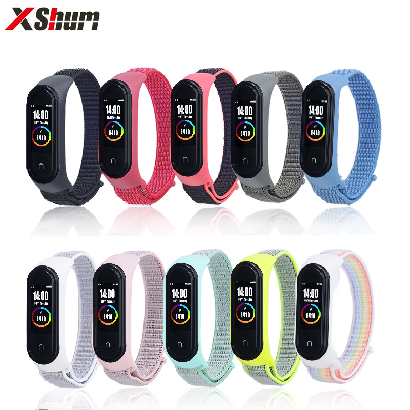 For Mi Band 4 Strap For Nylon Xiaomi Mi Band Bracelet 3 Miband 4/3 Nylon Wristbands Strap Wrist Replacement Smart Accessories