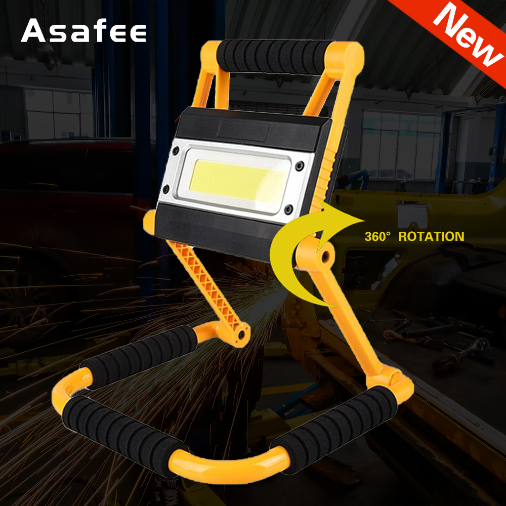 Asafee 1500LM Rechargeable 20W COB LED Work Lamp Foldable Inspection Light Torch COB Light Work Light Foldable Light
