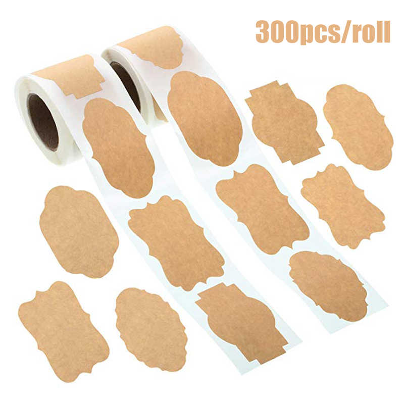 300pc Kraft Paper Blank Gift Tags Labels Christmas Decorations Home Diy Stickers