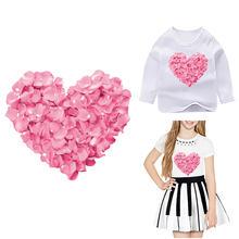 Schöne Herz Patches Für Kleidung Eisen Auf Transfer T-Shirt Patches Buchstaben Thermo aufkleber Auf Mädchen Kleidung Eisen Auf Patch DIY