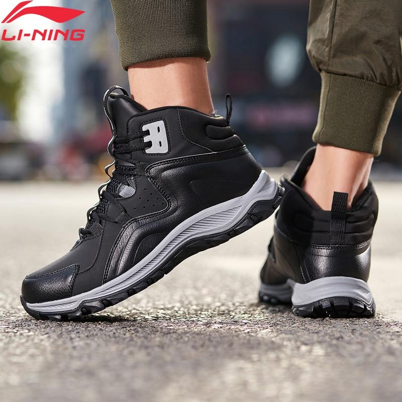 Li-Ning Men LN VOLCANO 2019 Lifestyle Shoes Warm Fleece Wearable LiNing Li Ning WATER SHELL Sport Shoes Sneakers AGCP159 YXB336