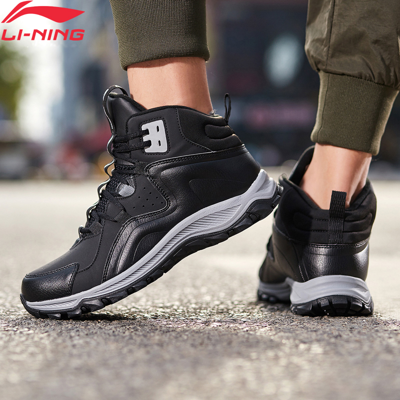 Li-Ning <font><b>Men</b></font> LN VOLCANO 2019 Lifestyle <font><b>Shoes</b></font> Warm Fleece Wearable <font><b>LiNing</b></font> li ning WATER SHELL Sport <font><b>Shoes</b></font> Sneakers AGCP159 YXB336 image