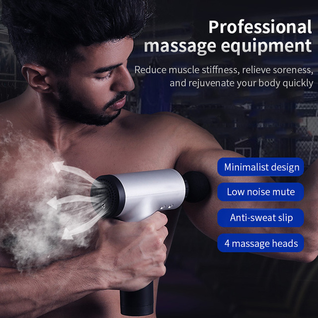 Jinkairui 4 Heads Massage Fascial Gun Deep Body Sport Therapy Muscle Pain Relief Body Shaping Slimming Relaxation Massagea 5