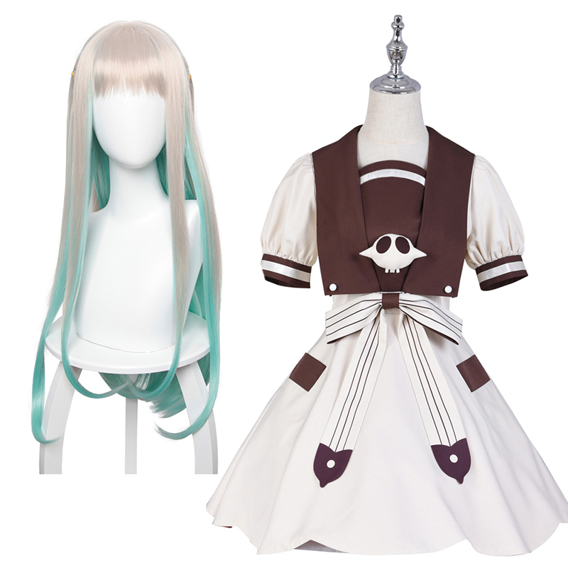 CosDaddy Hanako-kun Nene Yashiro Cosplay Costume Dress Full Set with Wig Toilet-Bound Anime Costume