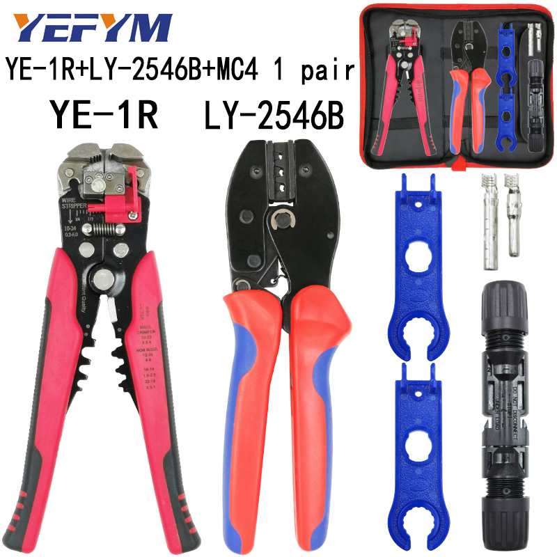 LY-2546B Crimping Pliers Pv Line Capacity 2.5/4/6mm2 14-10AWG Solar Connector Suit Y1 Wire Stripping Cutting Tools
