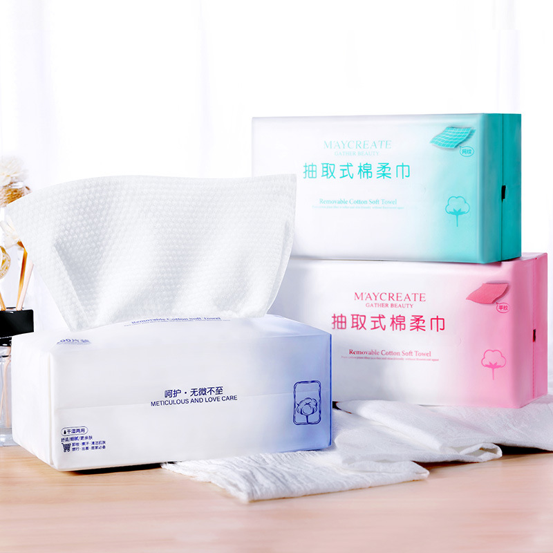 3Pcs Disposable Cotton Soft Face Wash Cloth Clean Face Wash Towel Travel Paper Towel toilet paper klopapier korea alcohol wipes image