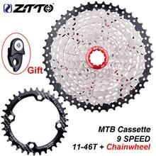 ZTTO 9 скоростей 11 46T MTB велосипедная кассета с колесом для горного велосипеда, широким передаточным числом, звездочки 9 s k7 9 скоростей свободного хода
