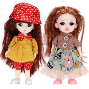 Шарнирная кукла OB11, 16 см, полный комплект одежды, платье принцессы русалки, кукла, модная маленькая одежда, юбка, аксессуары, игрушки для дево...