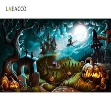 цены на Laeacco Jungle Pumpkin Old Castle Moon Halloween Baby Photography Backgrounds Customized Photographic Backdrops for Photo Studio в интернет-магазинах