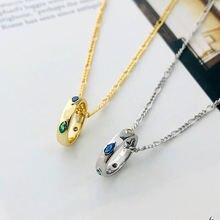 Настоящее серебро 925 пробы цепочка на шею колье для женщин