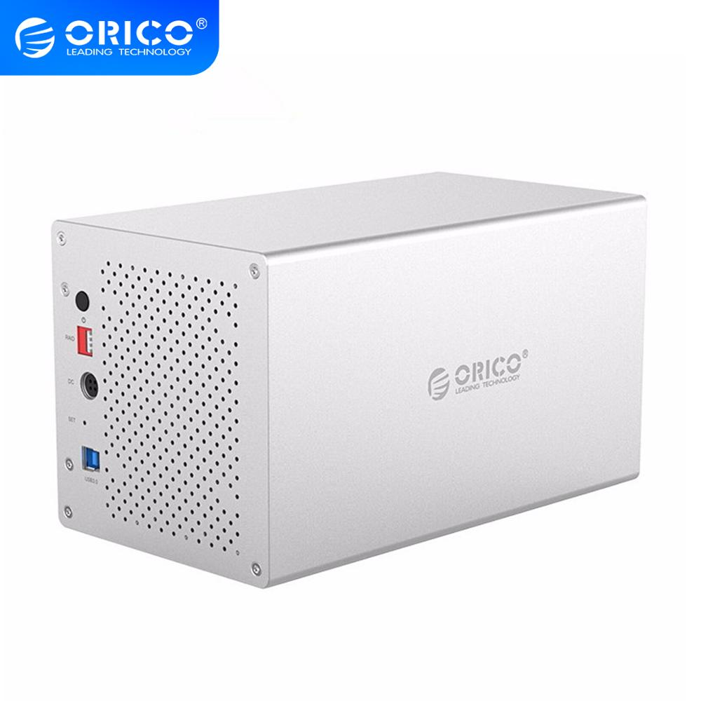 ORICO WS Series 3.5'' 4 Bay USB3.0 To SATA With RAID HDD Case Aluminum HDD Docking Station Support UASP 4*10TB HDD