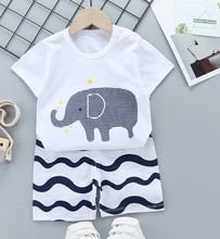 цена на Baby Clothing Sets 0-24M summer Baby Boys Clothes Infant cotton boys Tops T-shirt+Pants Outfits kids clothes Set