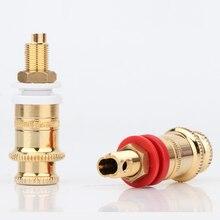 4Pcs BP1115 Gold Plated Speaker Binding Posts Terminal Connector Jack Loudspeaker Cable Soeckt