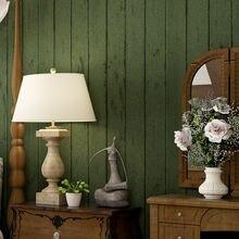 Нетканые обои в стиле ретро 10 м x 053 темно зеленая деревянная