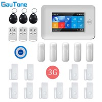 GauTone APP Remote Control WIFI GPRS 3G Wireless Home Security Alarm System With Wireless Flashing Light Siren Alarm