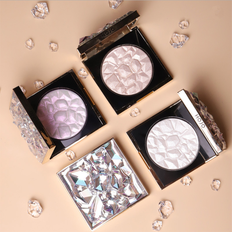 HOJODiamond Crystal High Gloss Powder Fairy Decoration Outline Highlight Makeup Three-dimensional Brightening And Repairing Disc