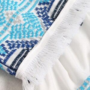 Image 5 - Женская юбка с кисточками TWOTWINSTYEL, винтажная Макси юбка с высокой талией, принтом и пуговицами на лето 2020