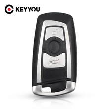 KEYYOU جديد وصول استبدال 3 أزرار مفتاح السيارة قذيفة لسيارات BMW 1 3 5 6 7 سلسلة X3 X4 مفتاح فوب حامي