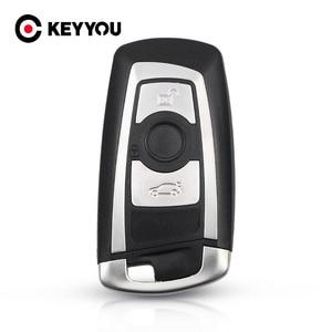 Image 1 - KEYYOU جديد وصول استبدال 3 أزرار مفتاح السيارة قذيفة لسيارات BMW 1 3 5 6 7 سلسلة X3 X4 مفتاح فوب حامي