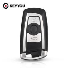 KEYYOU carcasa de repuesto para llave de coche, Protector de llavero con 3 botones para BMW 1 3 5 6 7 Series X3 X4