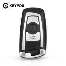 Keyyou nova chegada substituição 3 botões escudo da chave do carro para bmw 1 3 5 6 7 series x3 x4 chave fob protetor caso