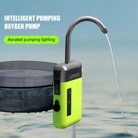 Bomba de oxígeno de agua con Sensor inteligente, iluminación LED, para pesca al aire libre, portátil, fácil de llevar, oxigenación, Para LEO