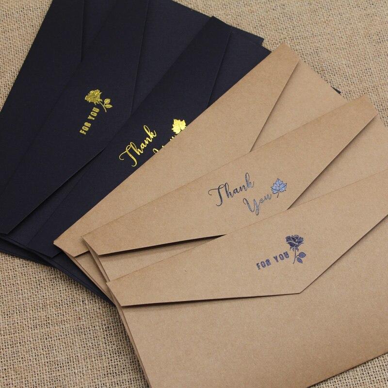 50pcs/pack #5 Envelopes Kraft Paper Envelopes DIY Decorative Envelopes Size 110mm X 220mm  School Office Supplies