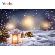 Yeele Christmas Backdrop Winter Snow Lantern Ball Newborn Baby Photography Background For Photo Studio Photobooth Photophone