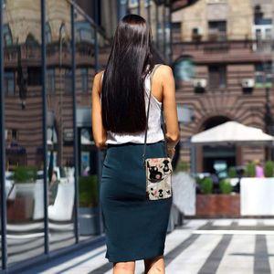 Image 4 - 고양이 가죽 가방과 고양이 숄더 가방 여성 패턴 여성 가방 트렌드 구매자 고품질의 작은 지갑