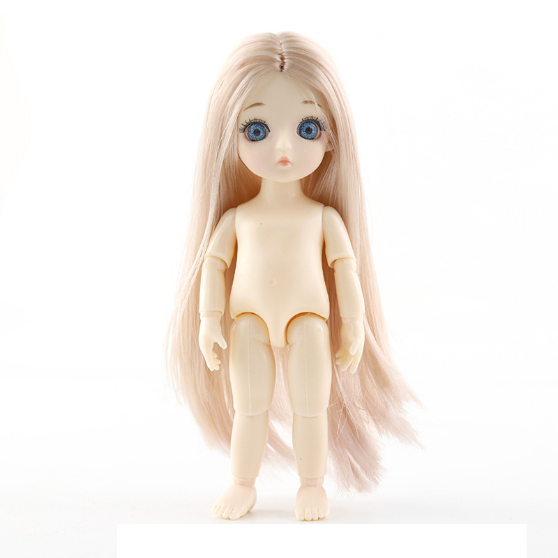 New 13 Movable Jointed <font><b>Dolls</b></font> Toys Mini 16cm <font><b>BJD</b></font> Baby Girl Boy <font><b>Doll</b></font> Naked Nude Body Fashion <font><b>Dolls</b></font> Toy for Girls Gift image
