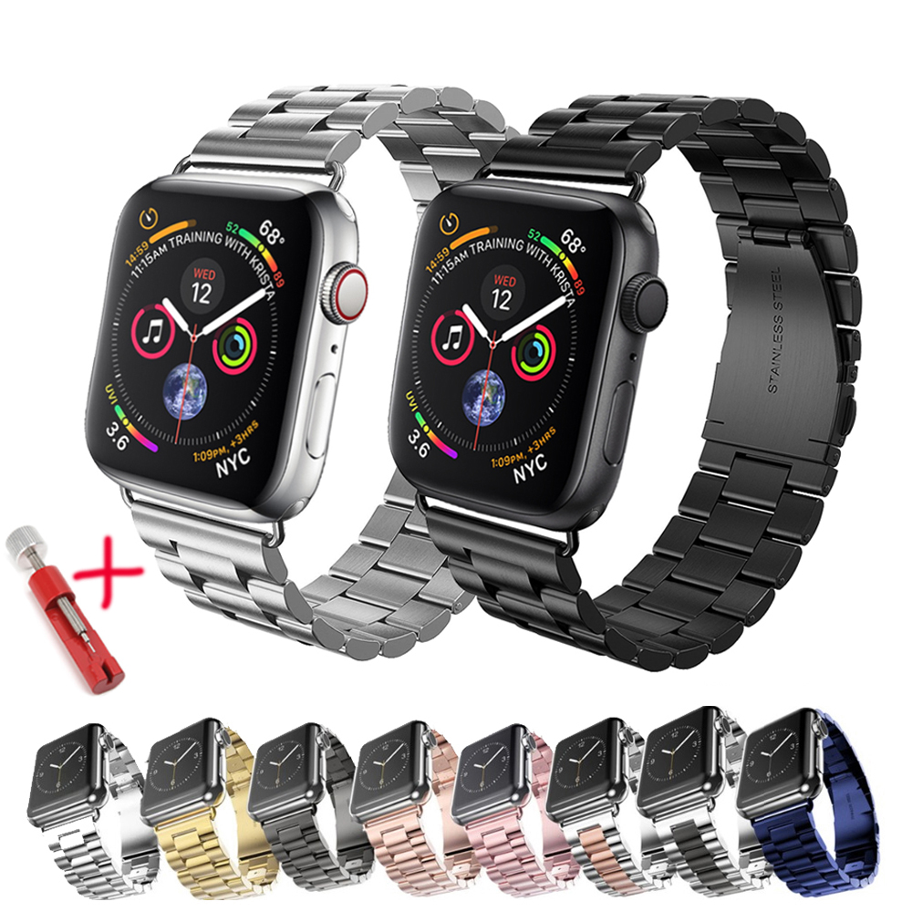Strap For Apple Watch Band 44 Mm 42mm 40mm 38mm Iwatch Series 4 3 2 1 Stainless Steel Link Bracelet Watchband Apple Watch 5 Band