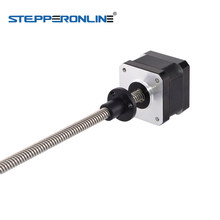 Motor paso a paso lineal Nema 17, 200mm de longitud, externo, 0.4A, 4 cables con tornillo de plomo Tr8x8 para impresora 3D