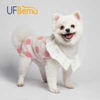 UFBemo chien pull chat pull chien vêtements pour animaux de compagnie pull à volants chandails pour petits chiens moyens noël manteaux tricotés hiver rose