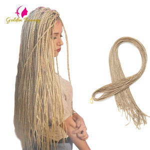 Zizi Braids Crochet Box Braids Micro Synthetic Braiding Hair Extensions Pink Write Purple Bug Gray 613 Crochet Hair Golde Beauty(China)