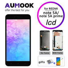 Premium Kwaliteit Lcd Voor Xiaomi Redmi Note 5A Touch Screen Lcd + Frame Voor Redmi Note 5A Prime Lcd Y1 y1 Lite Display