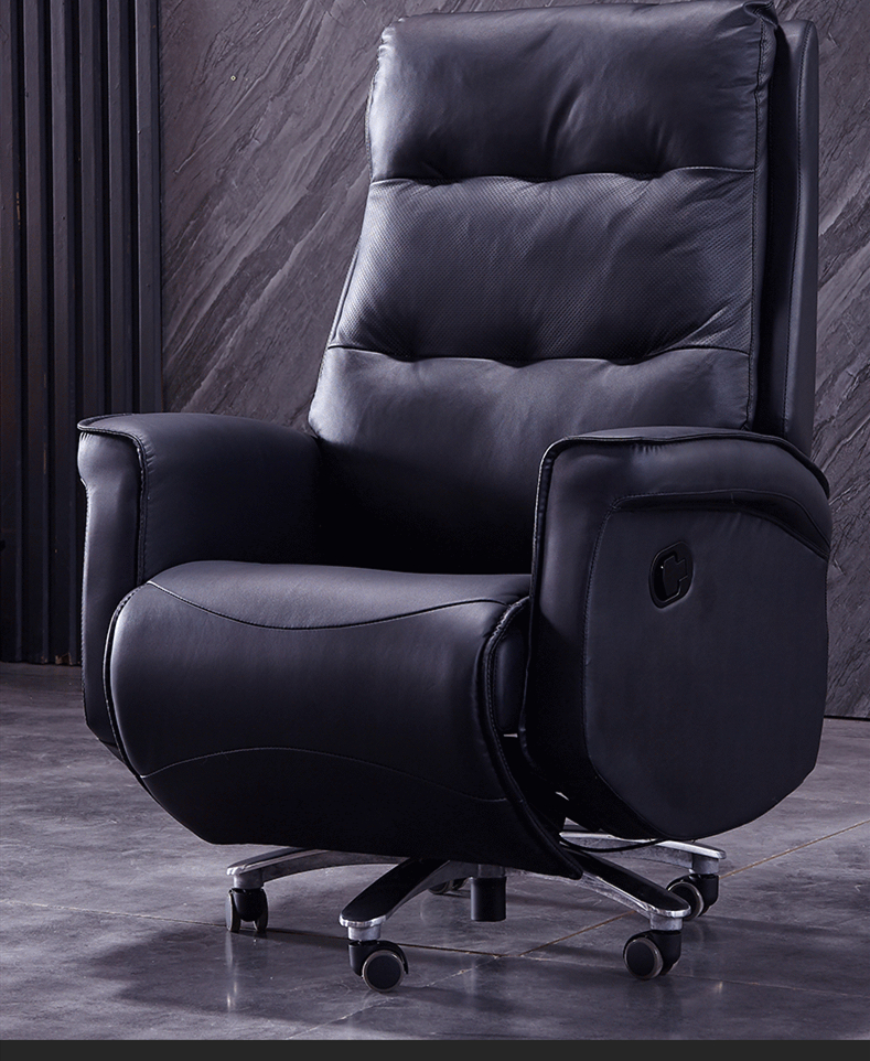 High-grade Boss Genuine Leather Business Office Chair Function Swivel Chair Comfortable Reclining