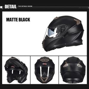 Image 2 - NEW GXT 160 Flip Up Motorcycle Helmet Double Lense Full Face Helmet Casco Racing Capacete