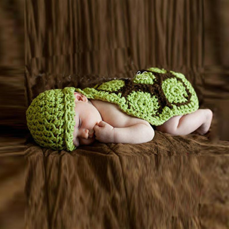 Newborn Photography Props Tortoise Props Hand Made Crochet Baby Photo Shoot Clothes Photo Shoot Prop Accessories