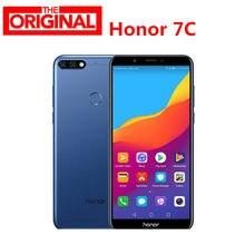 Estoque! original Huawe Honra 7C 4GB 64GB 5.99 polegada Snapdragon 450 Núcleo octa Frente 8.0MP Dual Câmera Traseira 3000mAh Impressão Digital
