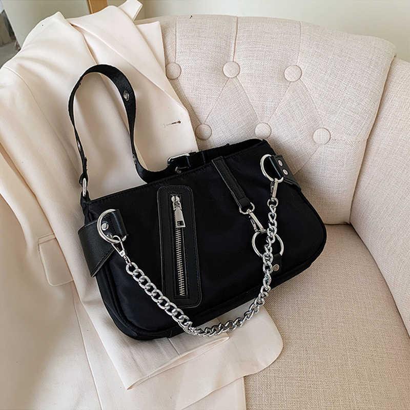 Frauen Vintage Baguette Tasche Oxford Tuch Kleine Schulter Tasche Ladys Mode Subaxillary Taschen Luxus Stil Achselhöhle Tasche Handtasche