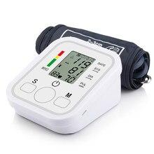 Tonômetro braço automático digital monitor de pressão arterial digital lcd sphgmomanômetro freqüência cardíaca medidor de pulso bp monitor