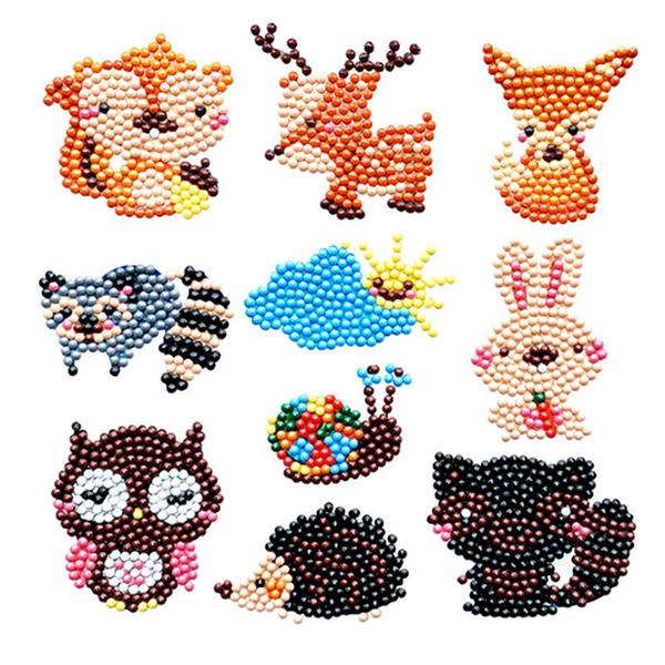 Niños DIY dibujos animados de diamantes pinturas gratis pegatinas Forma especial bordado para niños hecho a mano Haciendo Juguetes de juego