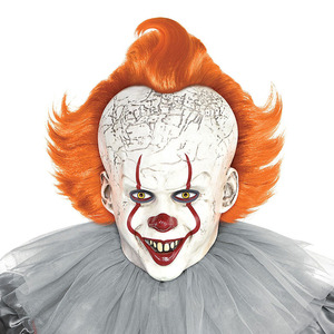 Image 5 - Horror Pennywise Joker Mask Cosplay it capitolo 2 Clown maschere in lattice Costume di Halloween puntelli Deluxe
